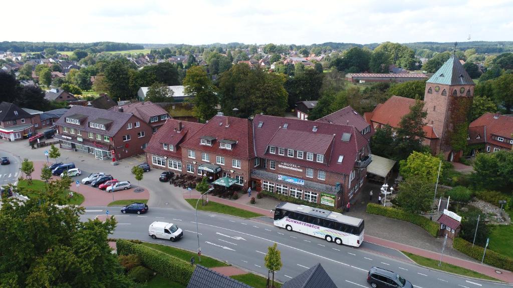 Blick auf Hotel Böttchers Gasthaus aus der Vogelperspektive