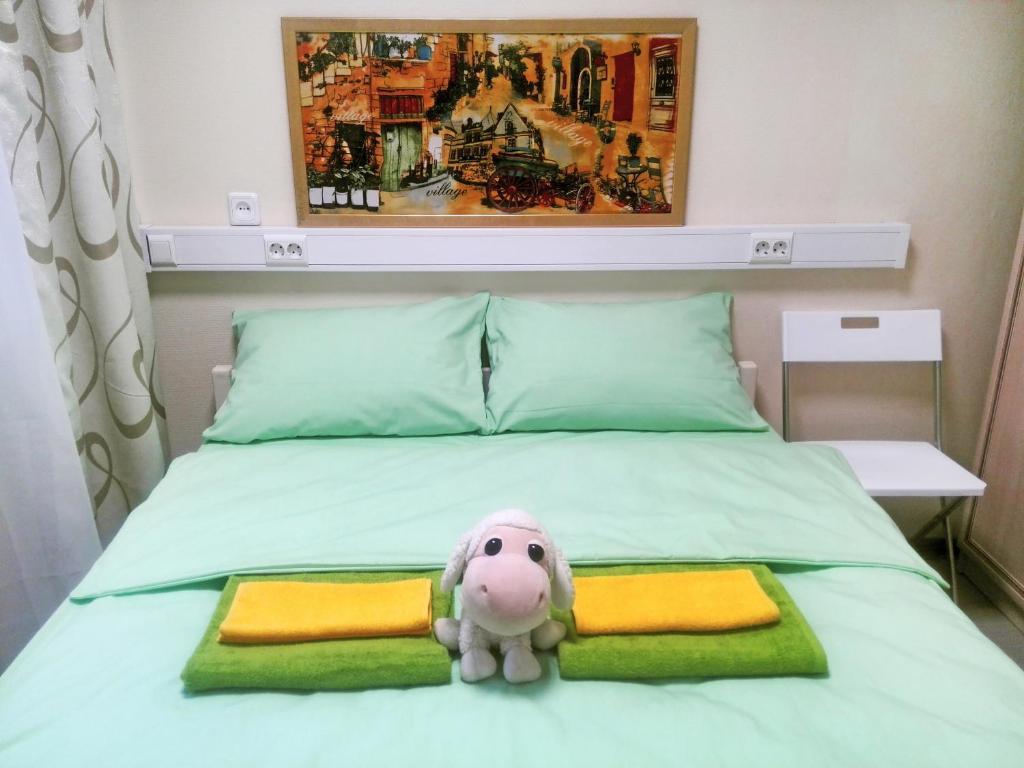 Кровать или кровати в номере Хостел Казанский вокзал