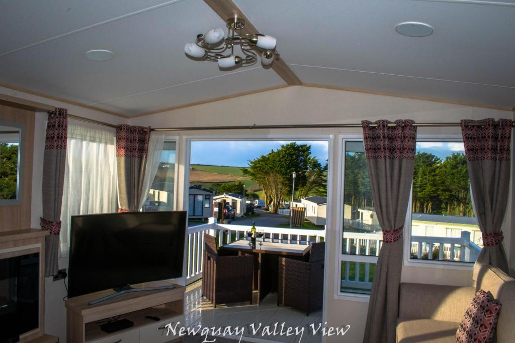 A television and/or entertainment center at Newquay Valley View