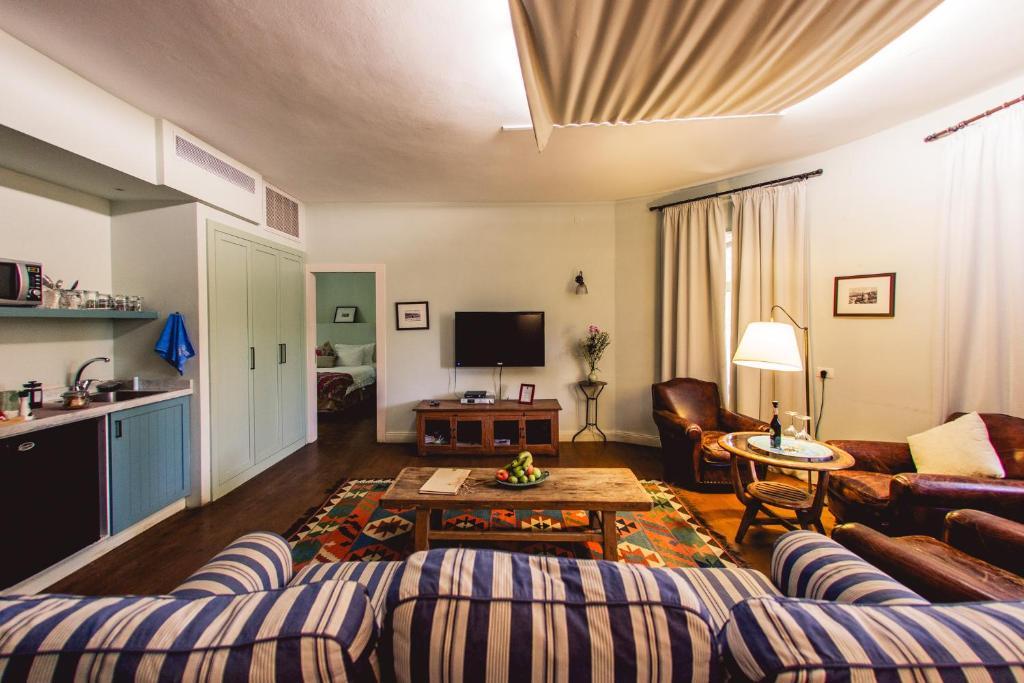 A seating area at Tur Sinai Organic Farm Resort