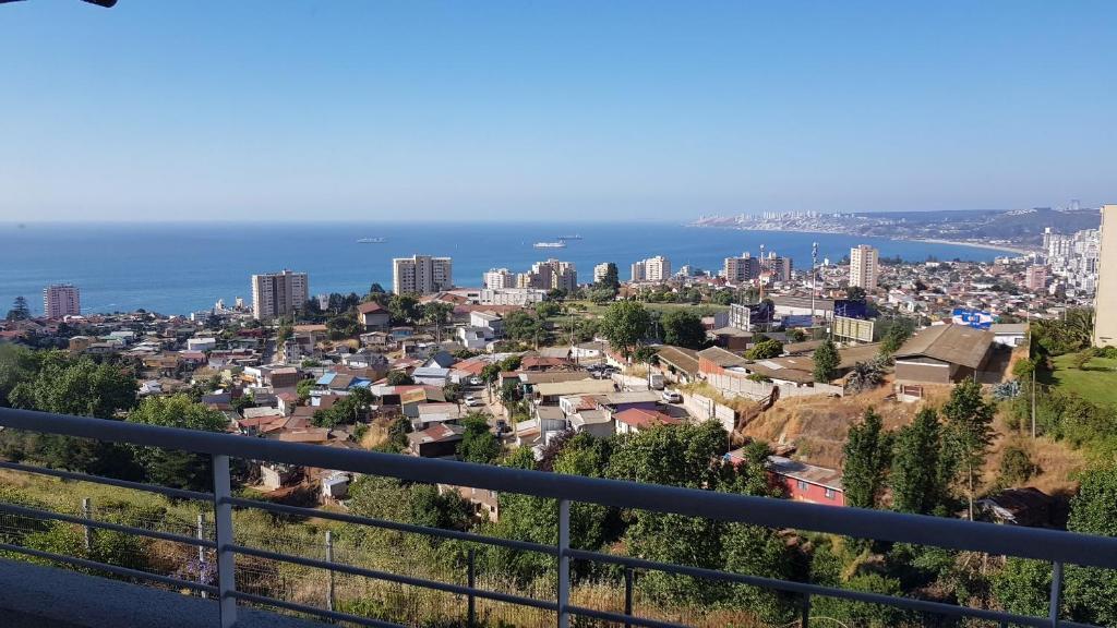 Un balcón o terraza de Arriendo diario viña del mar (7 mares)