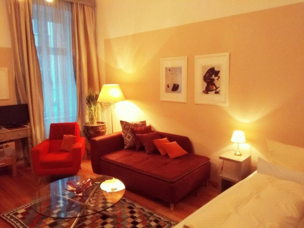 Гостиная зона в Apartments Mitte-Inn Berlin