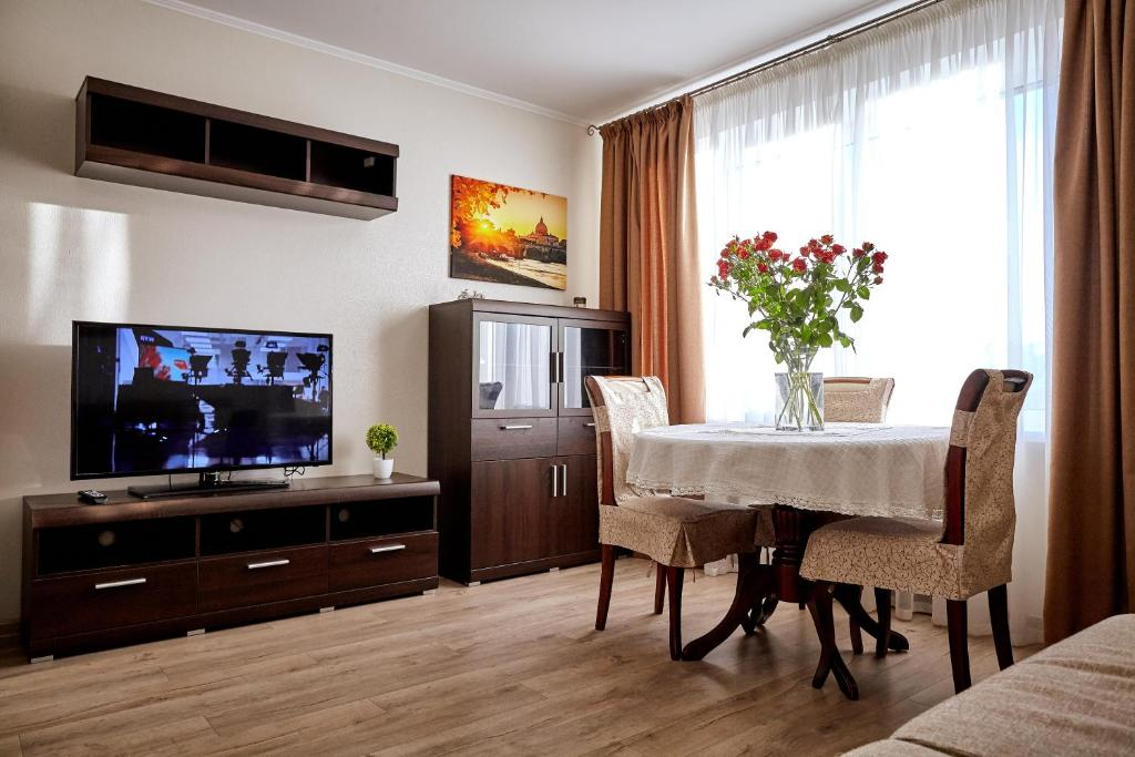 A television and/or entertainment center at City center apartment