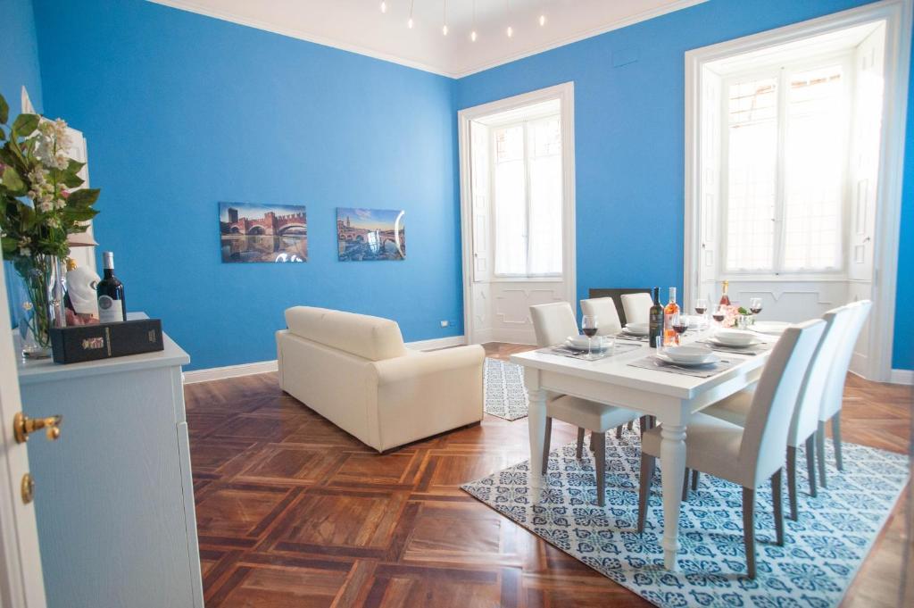 Гостиная зона в Adua Apartments ItalianFlat