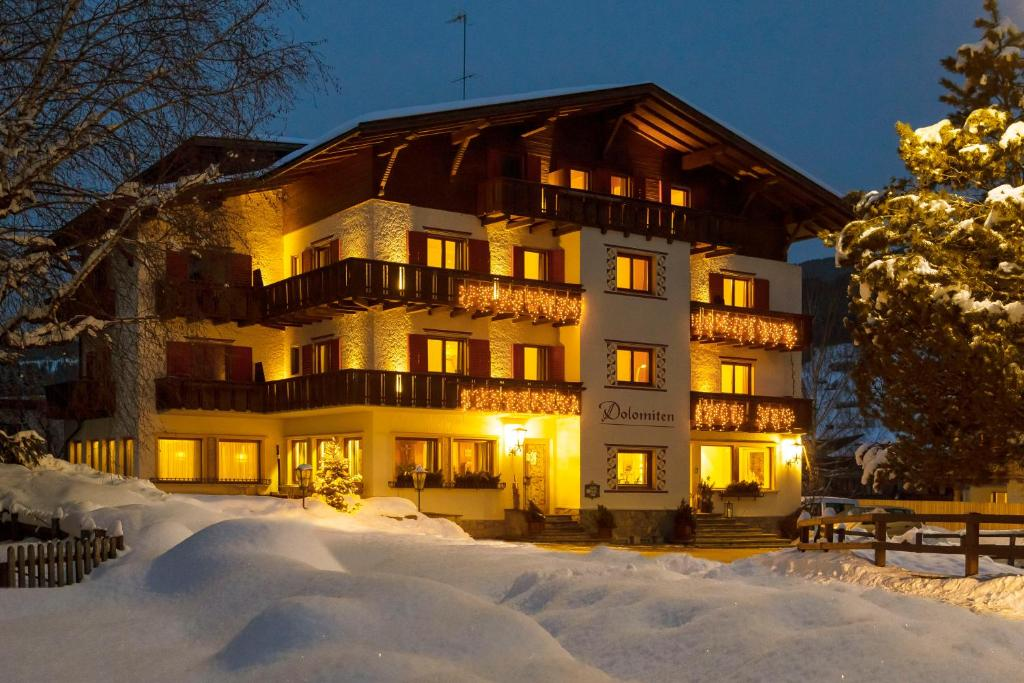Hotel Dolomiten during the winter