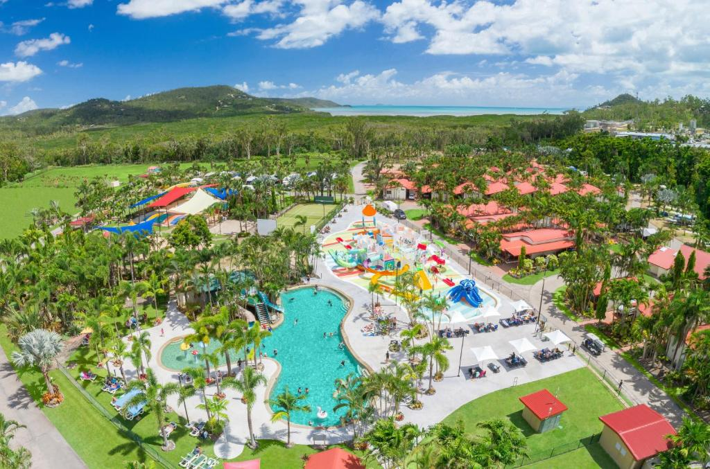 A bird's-eye view of BIG4 Adventure Whitsunday Resort