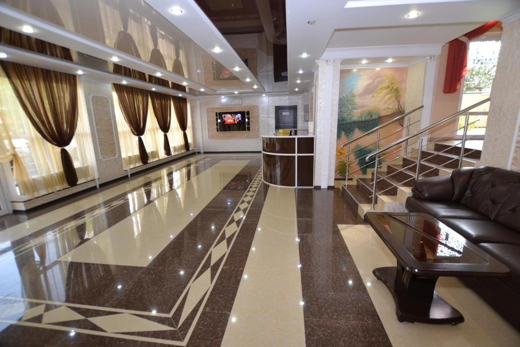 The lobby or reception area at Guest House Azov