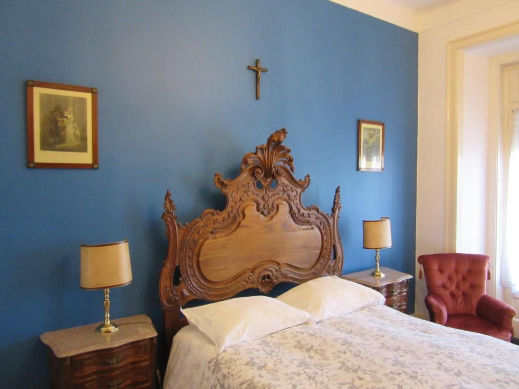 Cama o camas de una habitación en Family Macedo