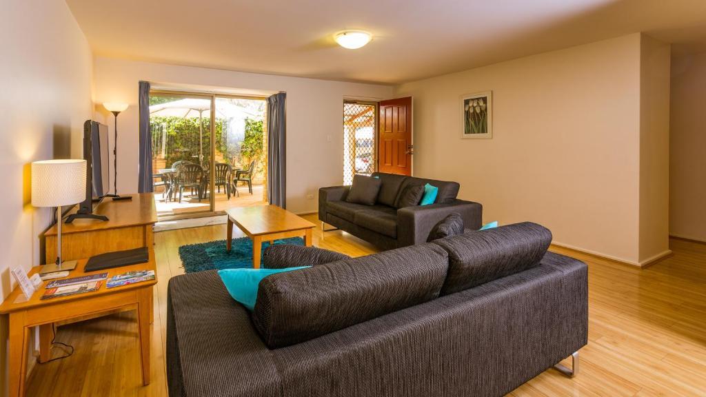 A seating area at Dowler Apartments Subiaco