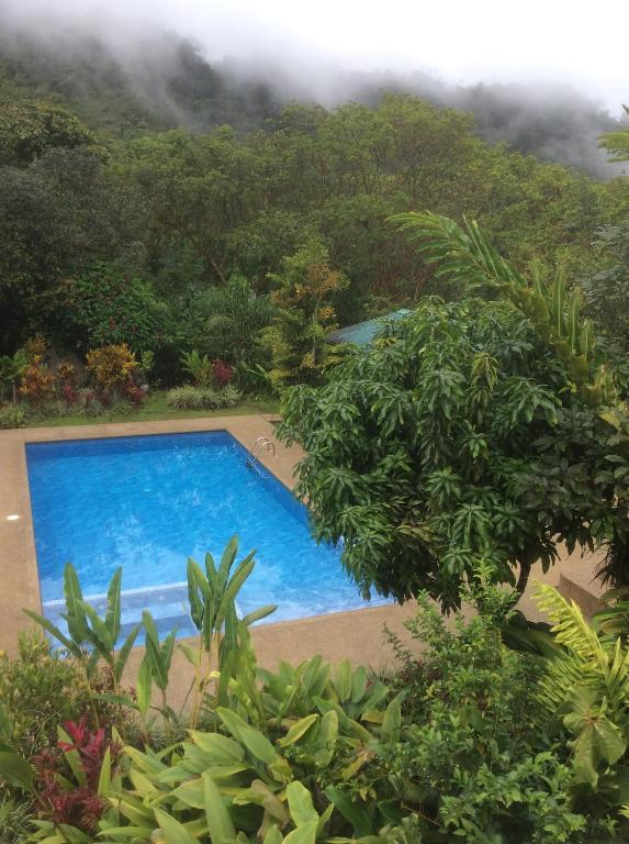 A view of the pool at Mindo Real or nearby