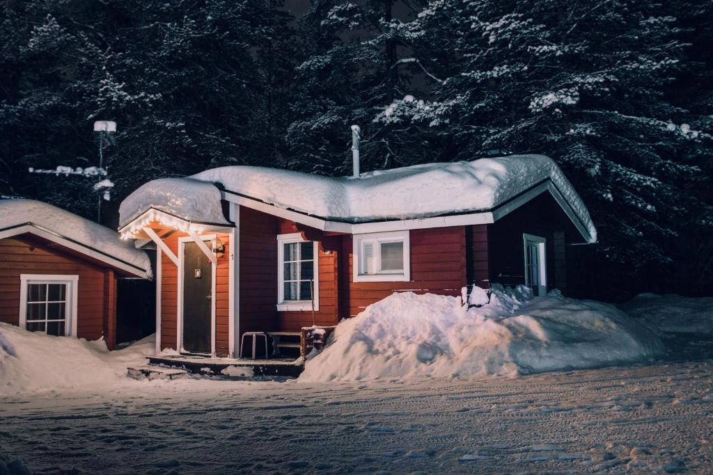 Pellon Helmi Holiday Cottages during the winter