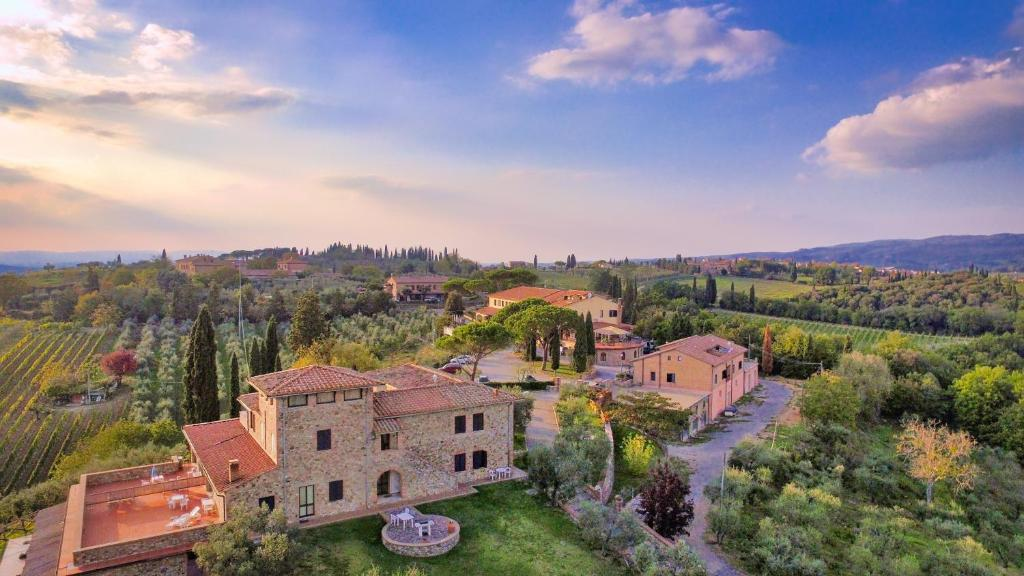 A bird's-eye view of La Loggia - Villa Gloria
