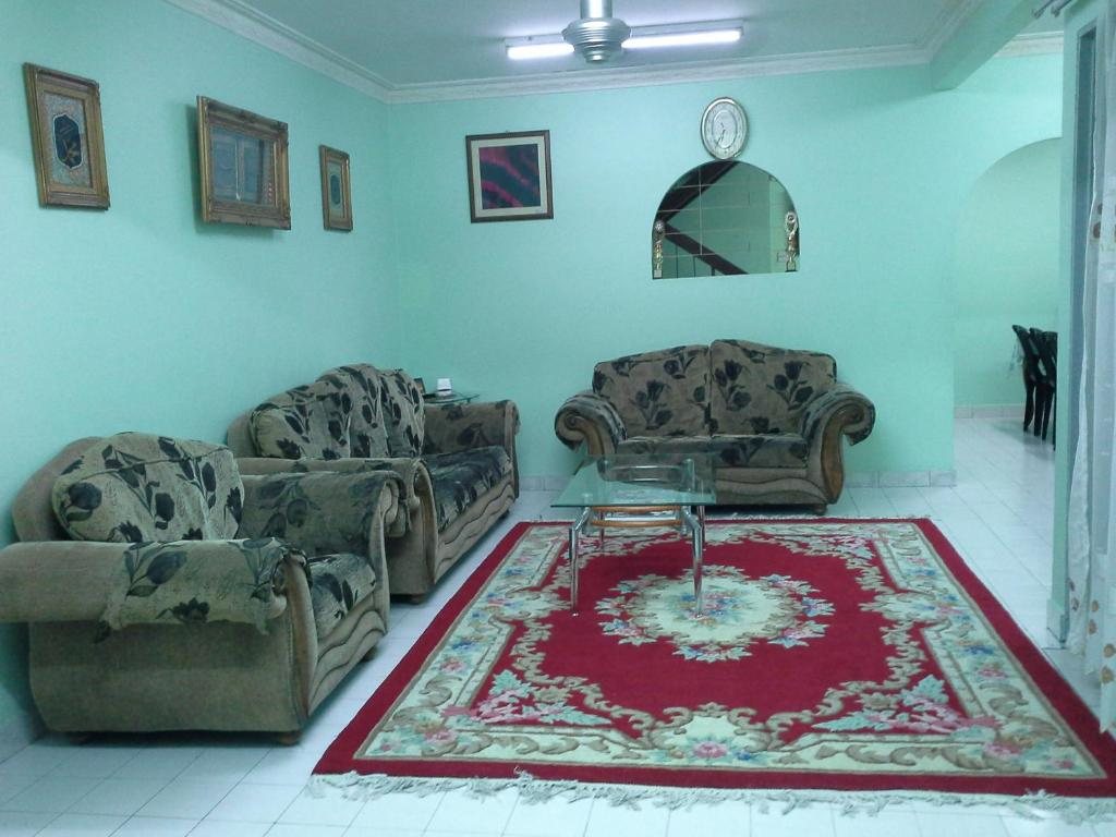 A seating area at Homestay, Shah Alam