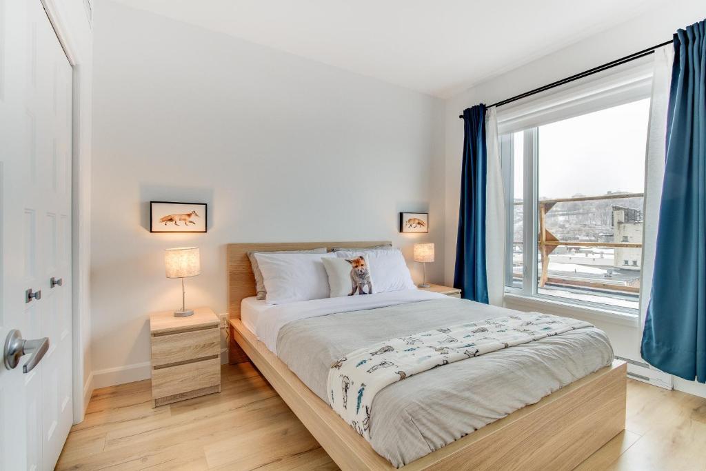 Un ou plusieurs lits dans un hébergement de l'établissement 2 beds - Downtown Apartment (The Fox)