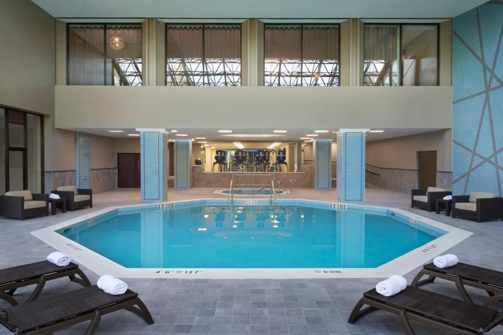 The swimming pool at or near Toronto Airport Marriott Hotel