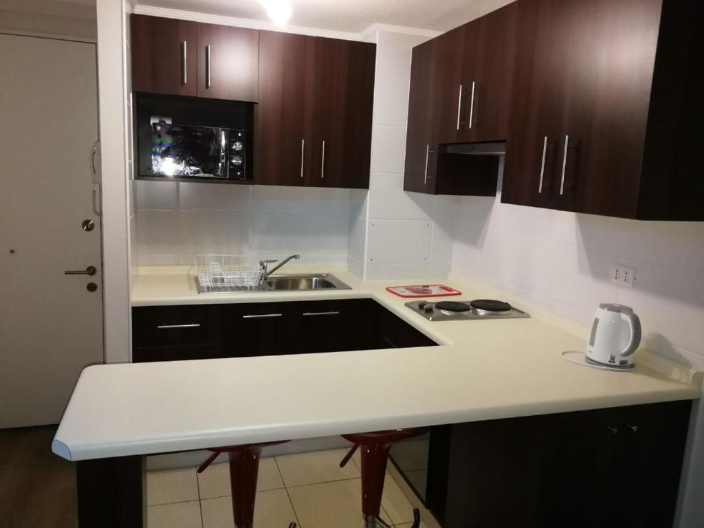 Una cocina o zona de cocina en Departamento santiago