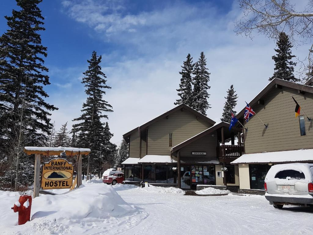 Banff International Hostel during the winter