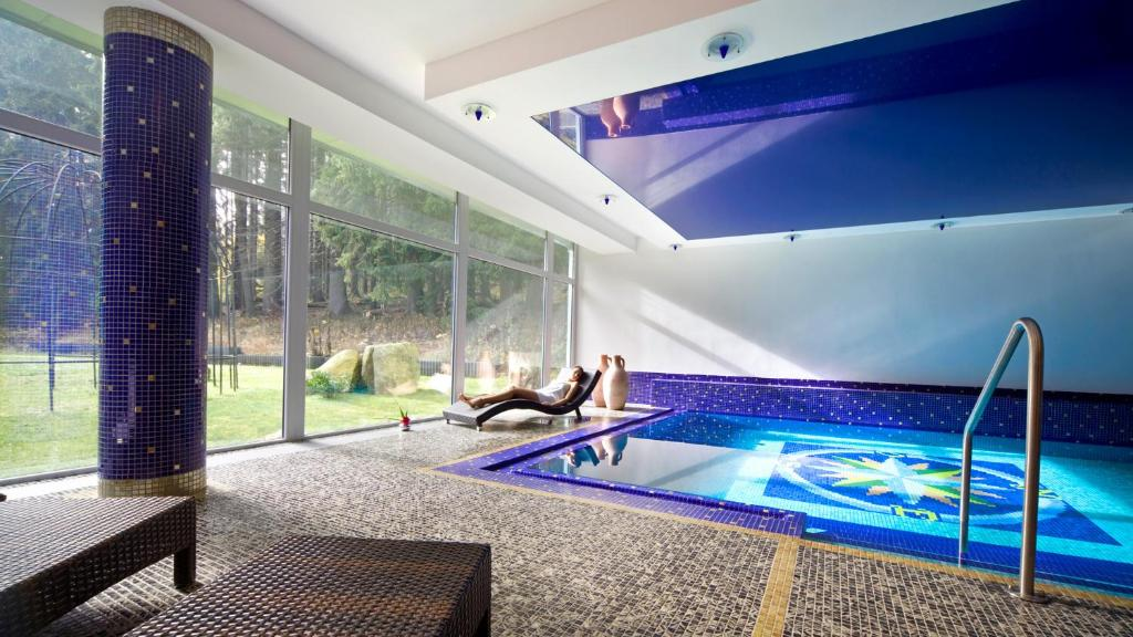 The swimming pool at or near Spa & Wellness Hotel St. Moritz