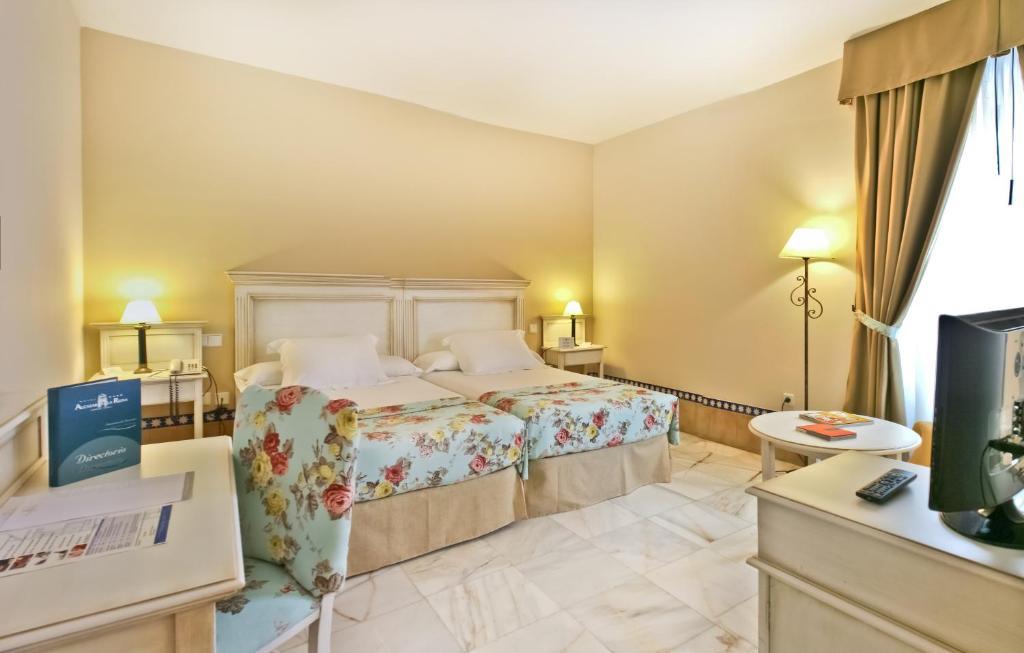 Cama o camas de una habitación en Alcázar de la Reina