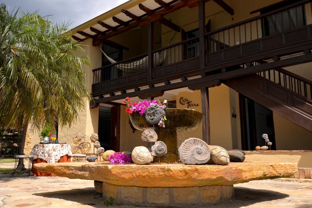The facade or entrance of Hotel Casa Terra