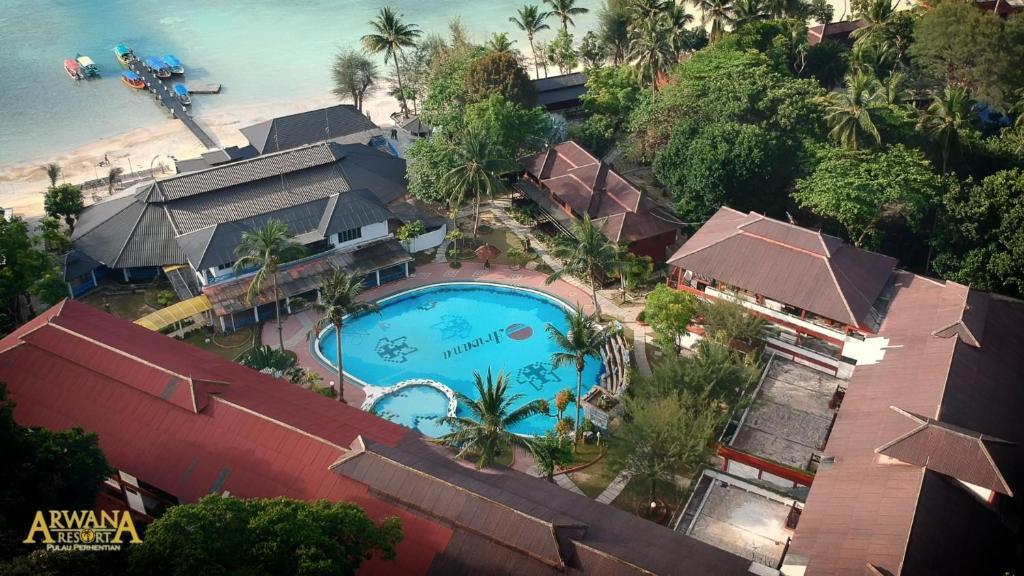 A bird's-eye view of Arwana Perhentian Eco Resort & Beach Chalet