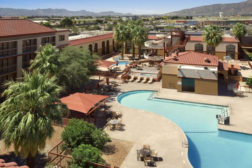 A view of the pool at Wyndham El Paso Airport and Water Park or nearby