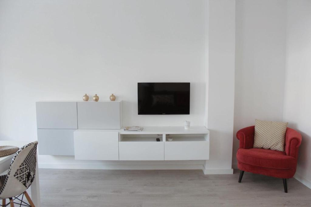 A television and/or entertainment center at Central Square House