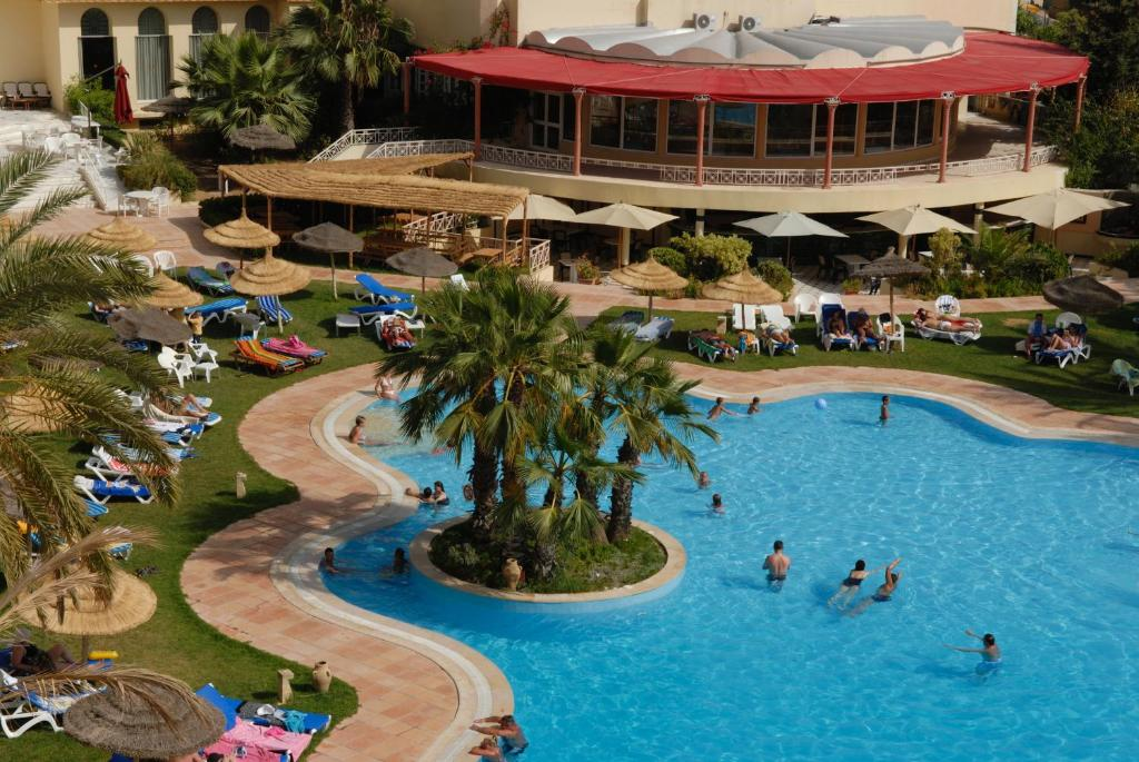 A view of the pool at Marina Palace or nearby