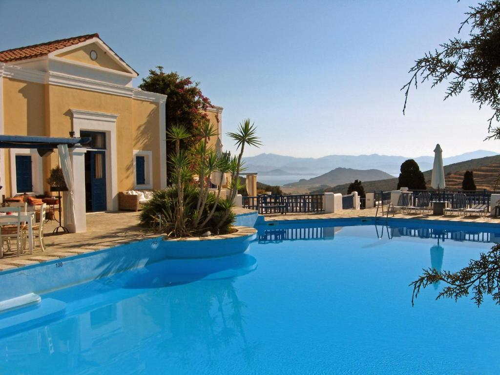 The swimming pool at or near Lefkes Village