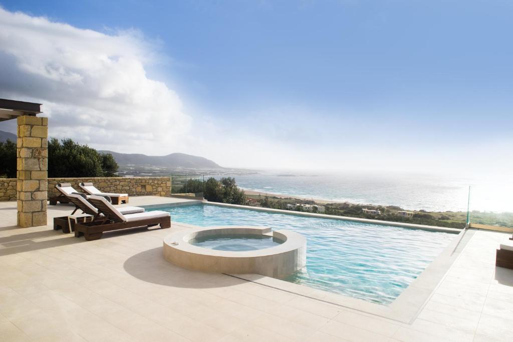 The swimming pool at or near Aspalathos Falassarna Villas