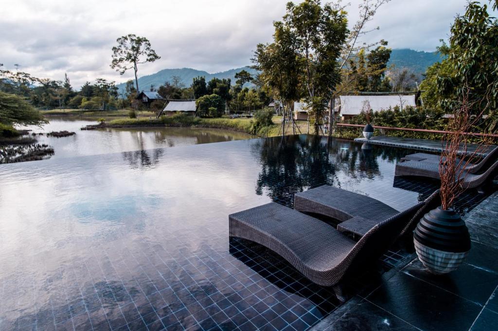 The swimming pool at or close to Lala Mukha Tented Resort Khao Yai