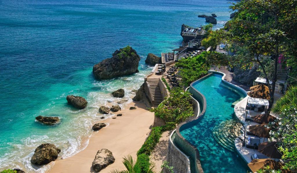 Vue panoramique sur l'établissement AYANA Resort and Spa, BALI