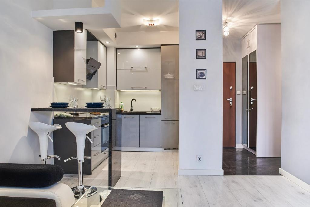 Dapur atau dapur kecil di D&A Apartments Old Town