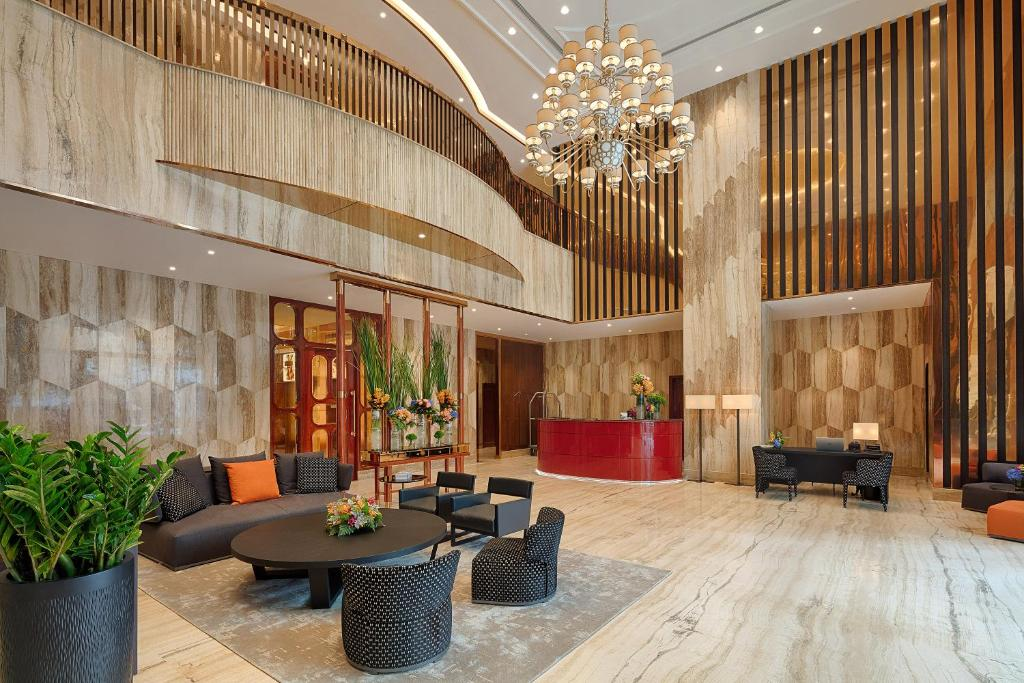 The lobby or reception area at Sherwood Suites