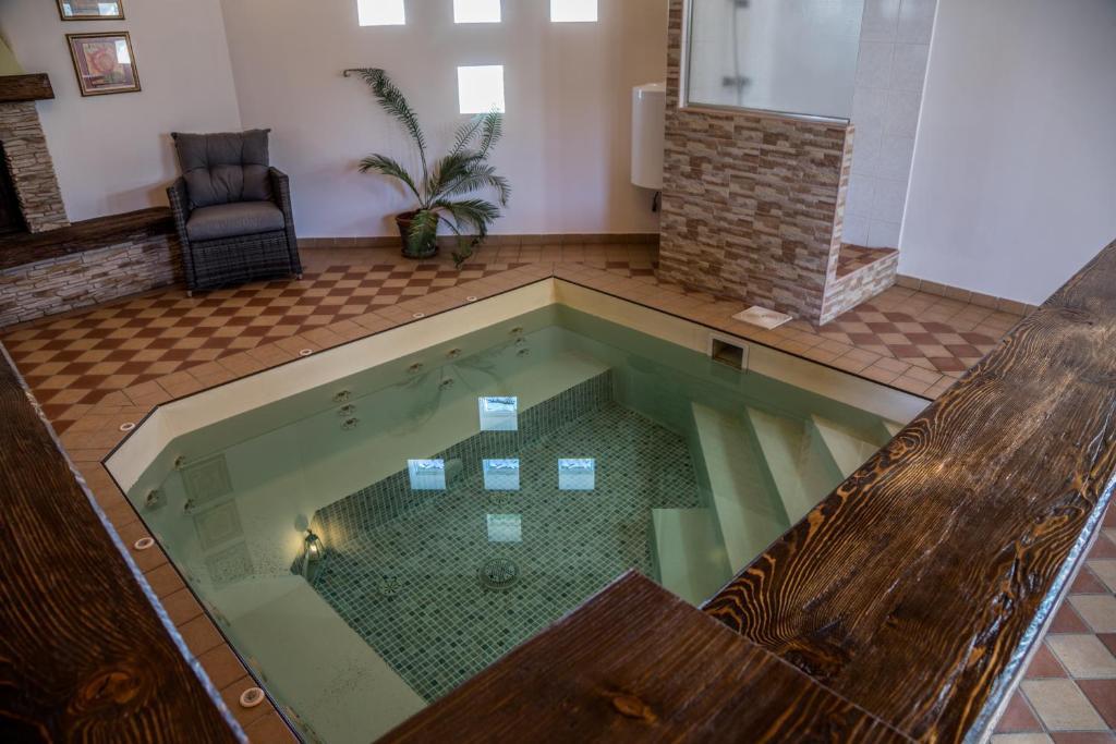 Swimming pool sa o malapit sa Csókás Birtok Panzió, Borászat és Pálinkafőzde