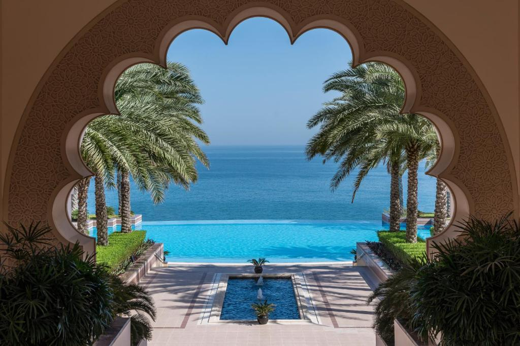 A view of the pool at Shangri-La Al Husn Resort & Spa or nearby