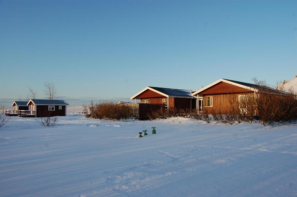 Móar guesthouse in de winter
