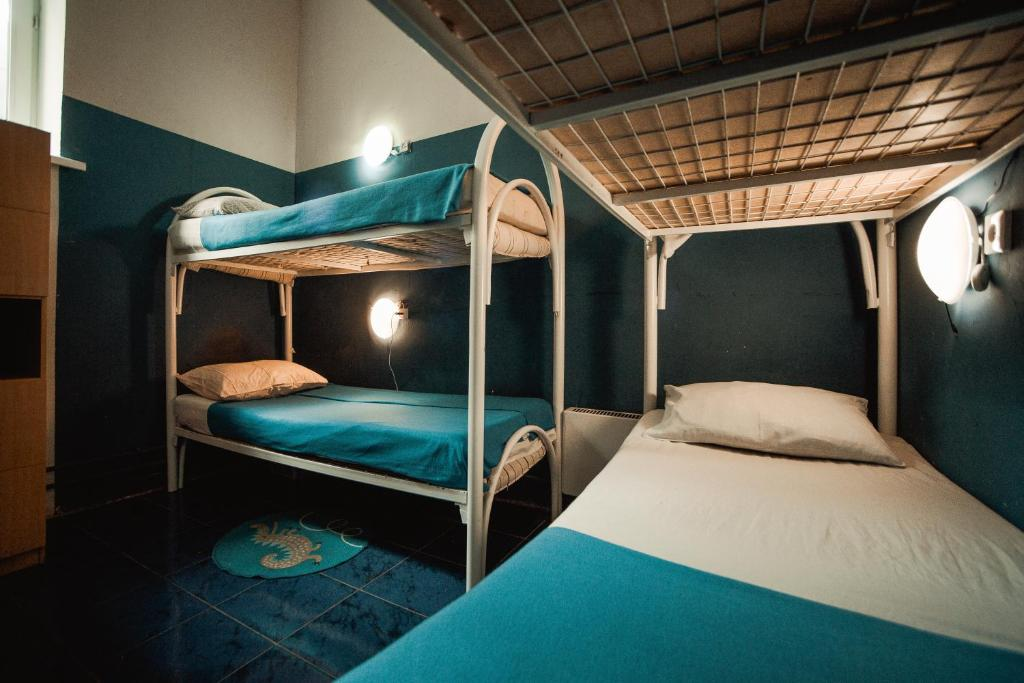 A bunk bed or bunk beds in a room at А 54 Hostel