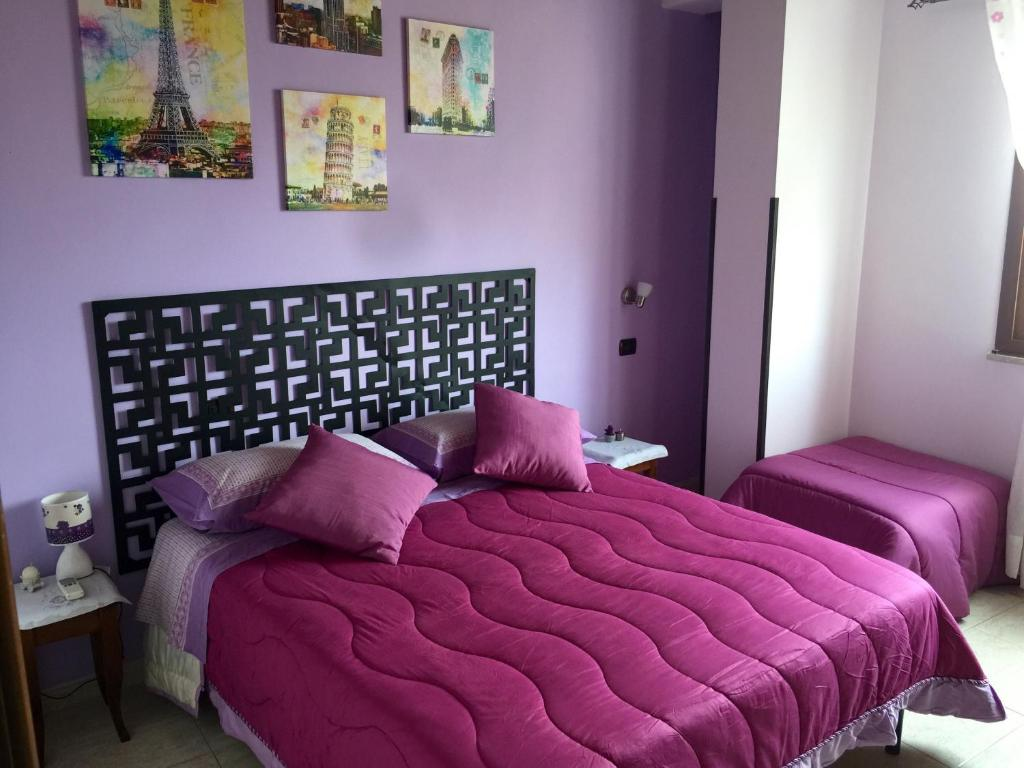 A bed or beds in a room at Da Francesca