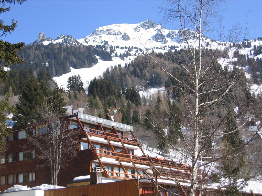Hôtel Arcadien in de winter