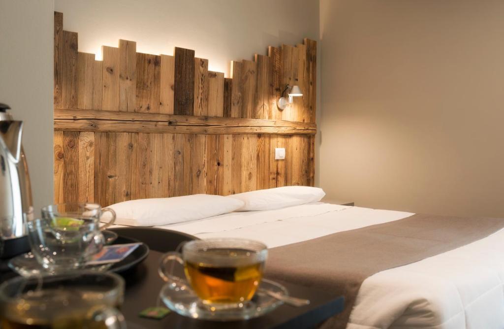 Ein Bett oder Betten in einem Zimmer der Unterkunft Monte Emilius