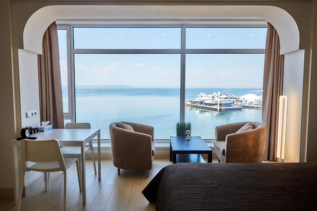 Гостиная зона в Sea View Apartments on Stanyukovicha