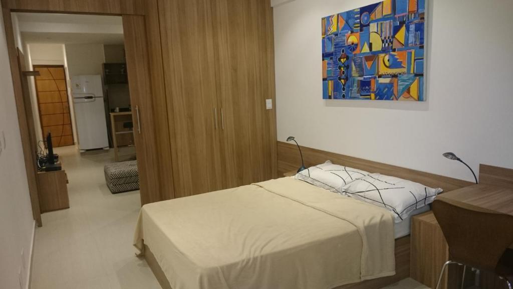 Un ou plusieurs lits dans un hébergement de l'établissement #111 - Domingos Beach Pad