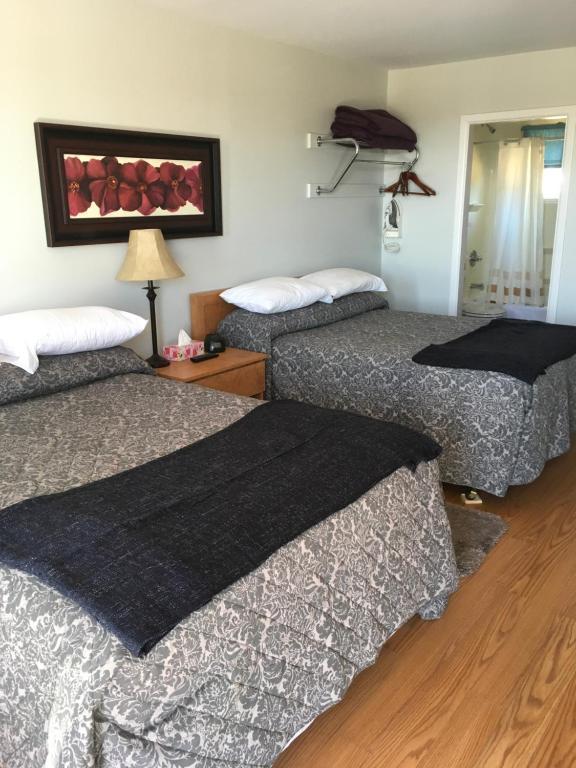 Postelja oz. postelje v sobi nastanitve Anchor Motel and Suites