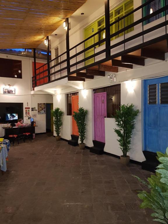 El vestíbulo o zona de recepción de Klix HostelCusco