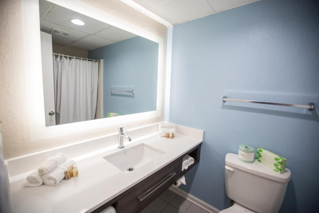 A bathroom at Tropical Seas Hotel