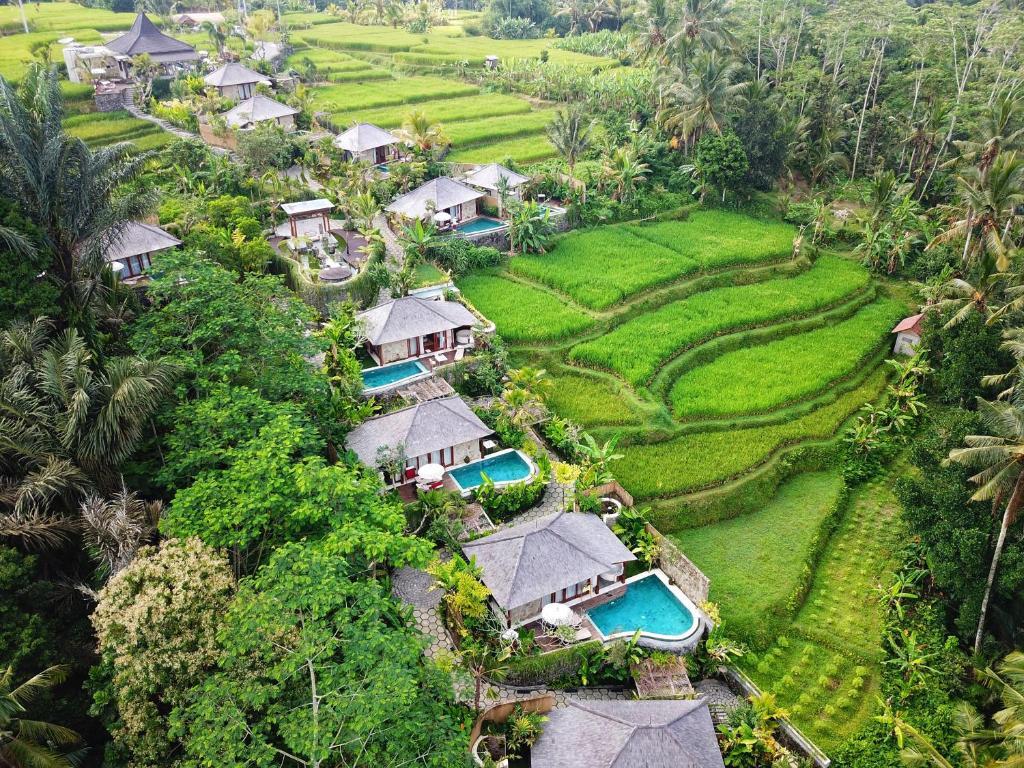 Blick auf Nau Villa Ubud aus der Vogelperspektive