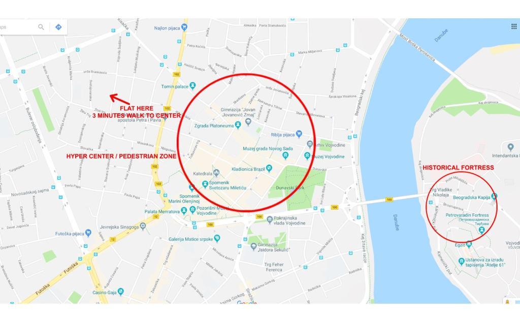 الشقق Novi Sad Central صربيا نوفي ساد Bookingcom