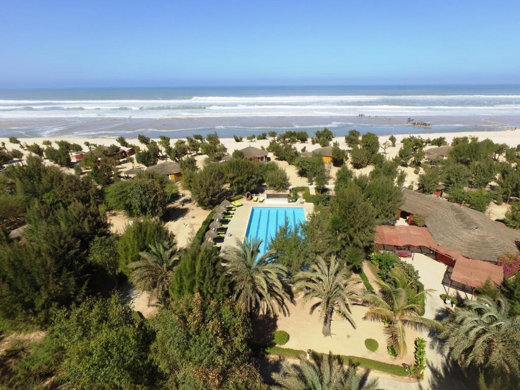 Vue panoramique sur l'établissement Diamarek Hotel Sur La Plage
