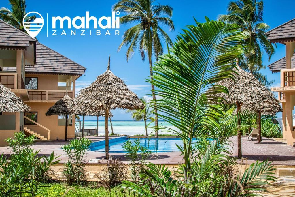 Vista sulla piscina di Mahali Zanzibar o su una piscina nei dintorni